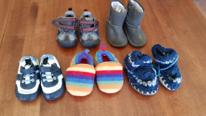 Shoes, slippers, boots 12 to 18 month, size 5