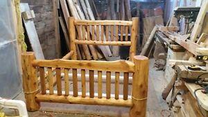 Red Cedar Log bed Queen size