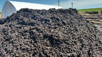 Free mulch mix with black soil for your garden