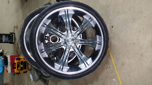 26 inch rims and tires for Chev