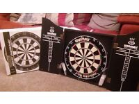 Winmau 'Ton Machine' dartboard and cabinet - brand new & never used