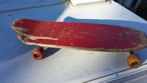 Vintage Wooden Skateboard - Man Cave Shelf?