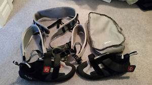 Climbing Harness and Shoes
