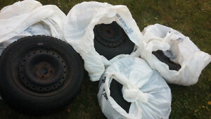 "15"" Goodyear Nordic Winter Tires 195/55R/15 and rims X4 Belleville Belleville Area image 5"
