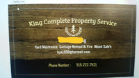 Kings complete property services! Summer or winter we do it all!
