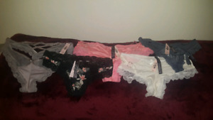 Victoria's Secret thongs and booty shorts all new with tags