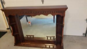 Solid Pine Hutch with Mirror