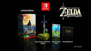 Zelda Botw Special LIMITED Edition w/ Master Sword WATCH VIDEO!