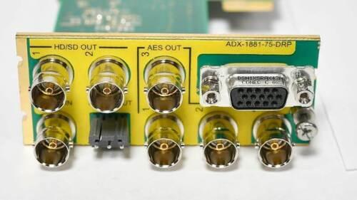 Miranda ADX-1881 Audio De-Embedder DEMUX for Densite 2 frame w/ 75 AES DRP