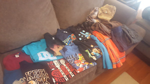 Large lot of boy clothes size 6-7 or small