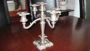 Candelabra - Candle Stand - SIlver Plated - holds 5 candles