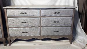 Commode vintage Lépine 6 tiroirs relooké très solide