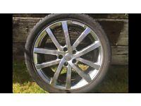 """Set of 4 RIVA 18"""" AVS Alloy Wheels."""