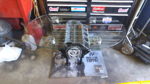 Real SMALL BLOCK CHEVY V8 ENGINE COFFEE TABLE - Mancave