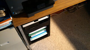 Steel Office desk with detachable side table Cambridge Kitchener Area image 2