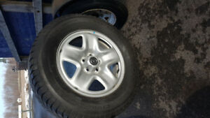 Mazda CX9 winter tires and factory powder coat rims