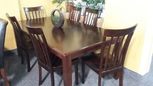 LOGAN 8 PC DINING ROOM TABLE & CHAIRS $999