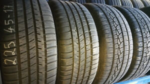 225 45 17 michelin and 2 continental90%. install and balance