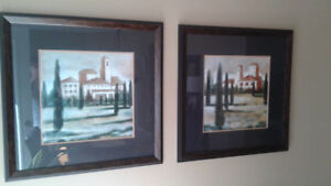 2 large pictures-framed--paid 300.00