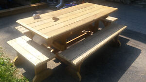 Picnic and patio tables made to order