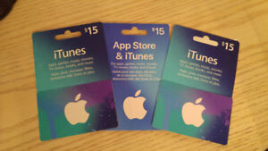 iTunes / App store gift cards
