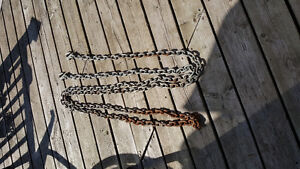 20 FOOT 3/8THS CHAIN WITH HOOKS