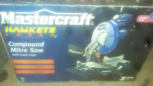 "Mastercraft hawkeye 12"" compound mitre saw with laser line..."