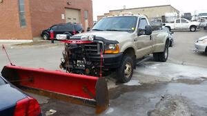 2001 Ford F-350 4x4 Diesel Pickup Truck with Plow & Salter