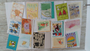 Birthday / Christmas / Happy New Year Cards with envelopes, new
