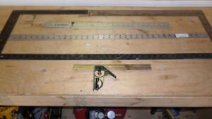 ONLY $10 FOR THE LOT - FRAMING RULERS AND STRAIGHT RULERS