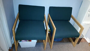 TWO waiting room chairs