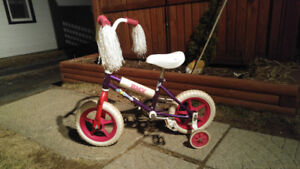 12in bicycle with training wheels,