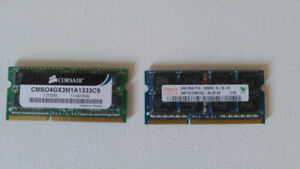 2 x 4GB DDR3 PC3-10600 1333MHZ Sodimm Laptop mémoire/Memory