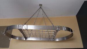 Lagostina Stainless Steel Hanging Pot Rack London Ontario image 2