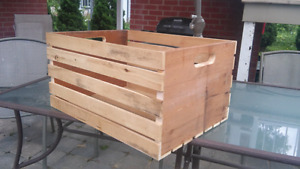 Big wooden crate