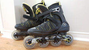 Men's K2 POWER 90 rollerblades size US10 + wrist guards