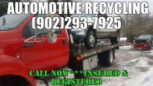 REGISTERED/INSURED VEHICLE RECYCLER (902)293-7925