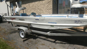 16 ft aluminum bass boat for sale