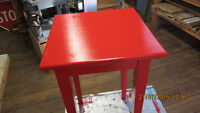 Fiery Red Gloss Accent Table