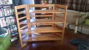Hand made oak collapsible display shelf  $120 OBO