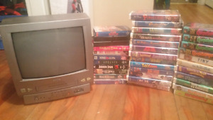 TV/VCR combo & 35 movies!Great for kids!