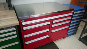 """27X48X34""""H - 400lbs cap/drw HD PARTS cabinet w/Stainless top"""
