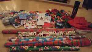 TONS of Christmas wrap, bows, bags, tissue, etc