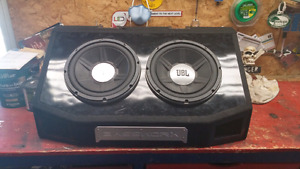 "Two JBL 12""  GTO Series 1400 Watt Subs W/Bassworx Box"