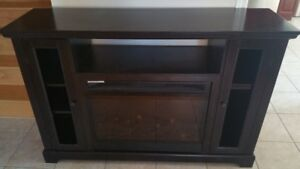 free dining table with chairs & TV stand with electric fireplace