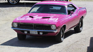 Real FM3 Pink 4 speed Plymouth Cuda RARE RARE