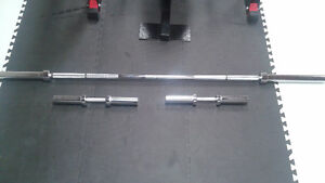 Olympic Dumbbells, 7' Olympic Weight Bar and Misc...