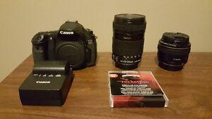 Canon 60D DSLR, EF-S 18-135mm f/3.5-5.6 IS, EF 28mm f/1.8 USM