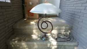 Large wrought iron table lamp