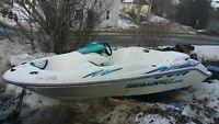 For Sale Seadoo Challenger jet boat 15 foot 787 engine